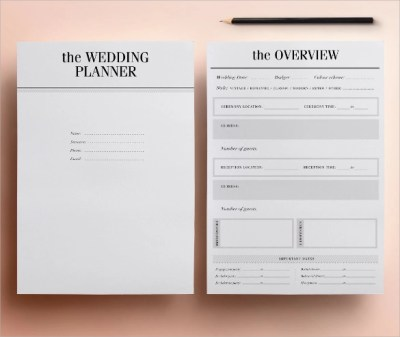30+ Wedding Planner Samples - Word, PSD, Pages
