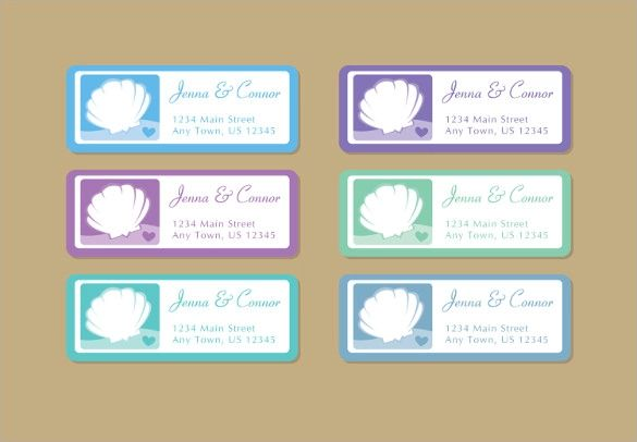 wedding address label template download