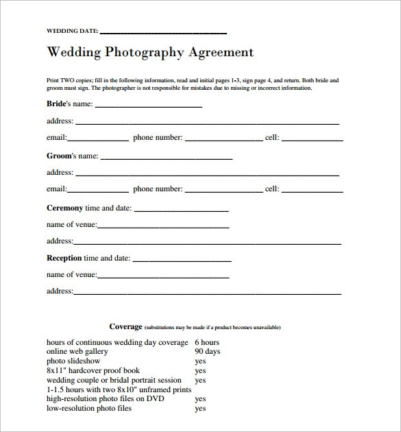 Wedding Contract Template - 23 + Download Free Documents in PDF - marriage contract template