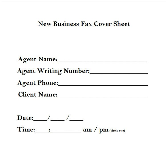 sample business fax cover sheet - fototango