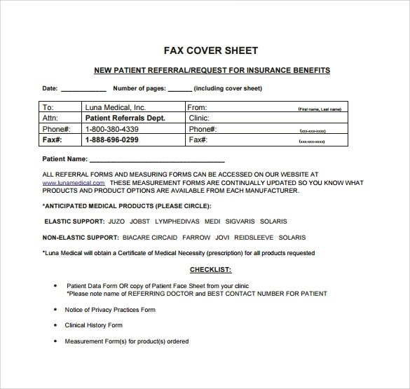 12+ Sample Personal Fax Cover Sheets Sample Templates