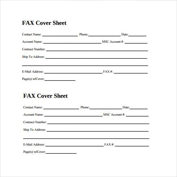 5+ Fax Cover Sheet for CV Samples Sample Templates