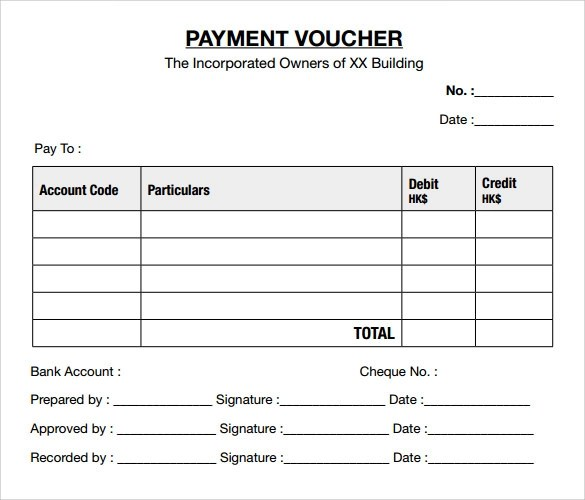 10 Payment Voucher Templates to Download Sample Templates - cash payment template