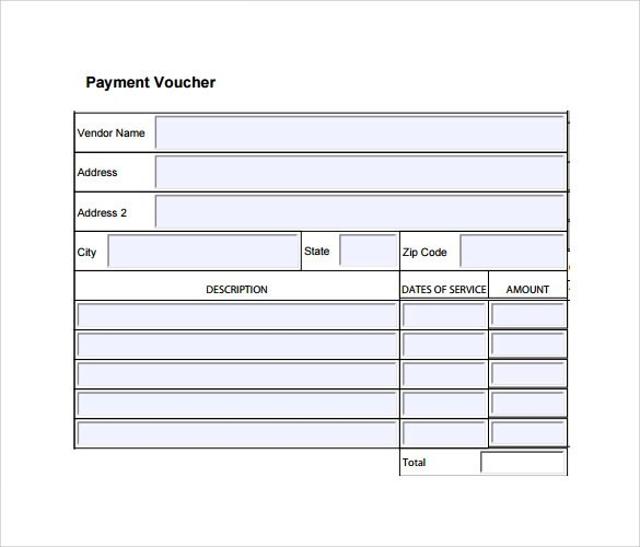 10 Payment Voucher Templates to Download Sample Templates - example of a voucher