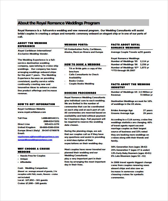 sample of wedding programs templates