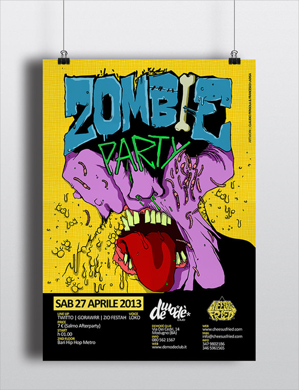 18+ Zombie Flyer Templates Sample Templates