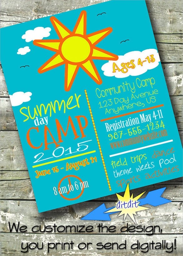 22+ Summer Camp Flyer Templates Sample Templates - Summer Camp Flyer Template