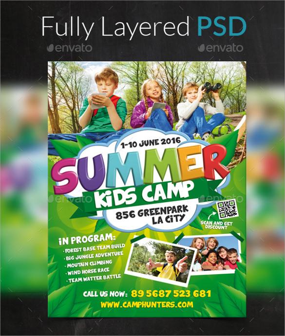 22+ Summer Camp Flyer Templates Sample Templates