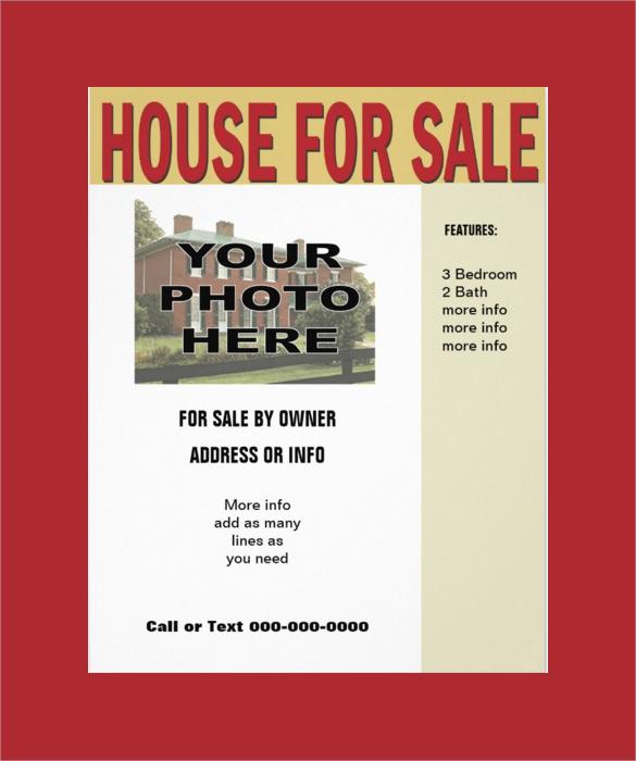sample house for sale flyer radiovkm