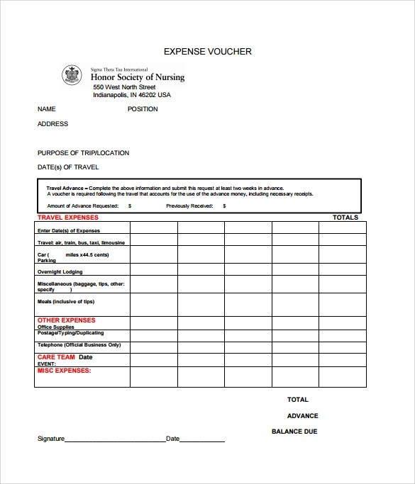 8 Expense Voucher Templates to Download for Free Sample Templates