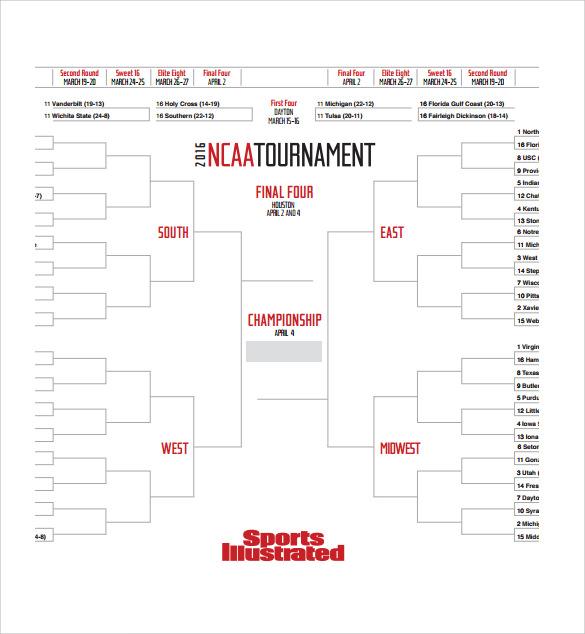 Sample Tournament Bracket - 5+ Documents in PDF