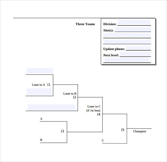 Sample Tournament Bracket - 5+ Documents in PDF