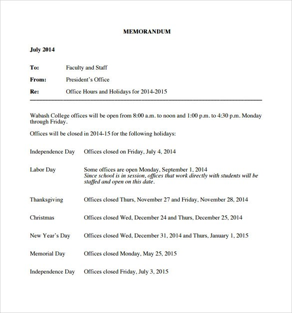 Holiday Memo Template Holiday Packing List Template Vacation - casual memo letter template