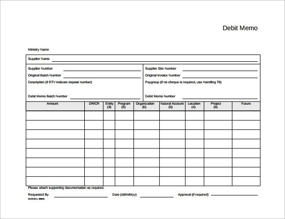 Sample Debit Memo - 10+ Documents in PDF