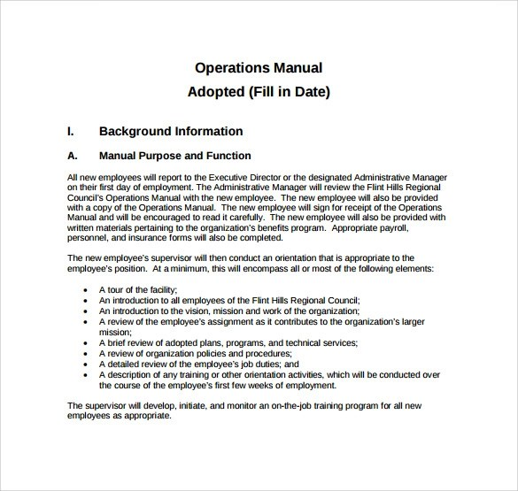 Top Result 60 Inspirational It Operations Manual Template Gallery - operating manual template