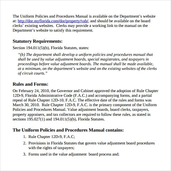 7+ Procedure Manual Samples, Examples, Templates Sample Templates