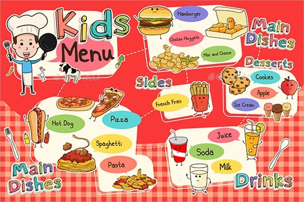 20+ Sample Kids Menu Templates Sample Templates