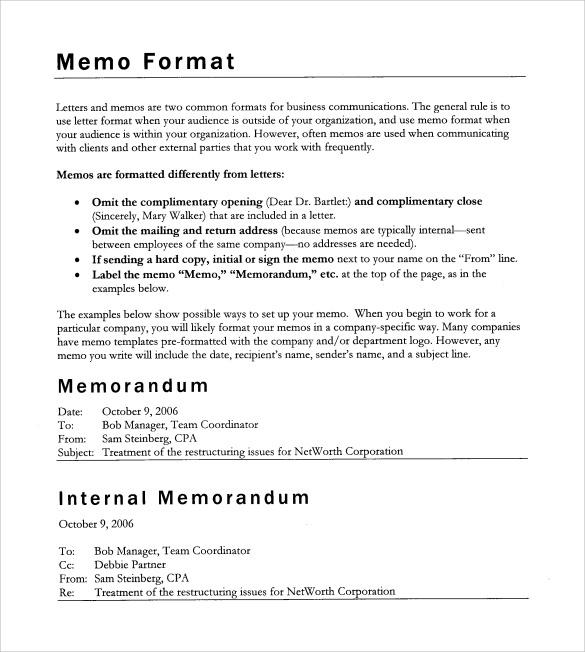 blank memo form