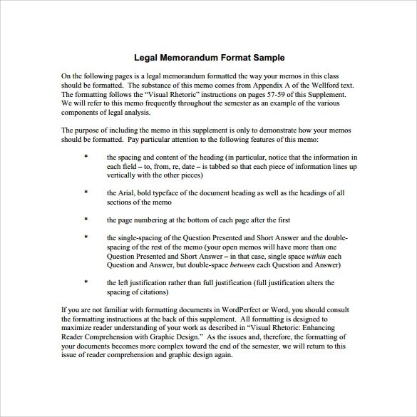Sample Legal Memo Template - 11+ Documents in PDF, Google Docs, Word