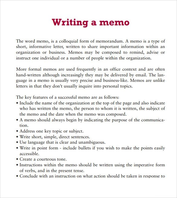 Business Memo Format Word  NodeCvresumePaasproviderCom