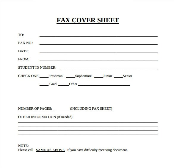 15+ Sample Blank Fax Cover Sheets Sample Templates