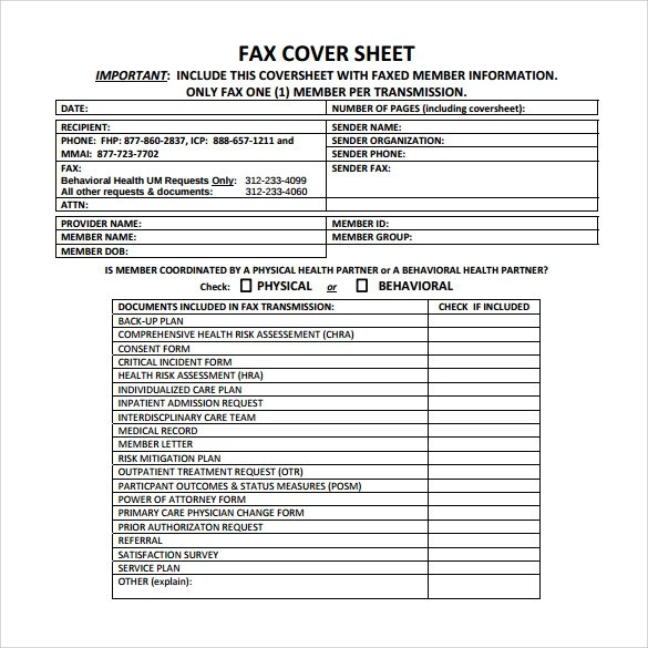 18 Printable Fax Cover Sheet Templates to Download Sample Templates - Fax Cover Sheets Free Printable