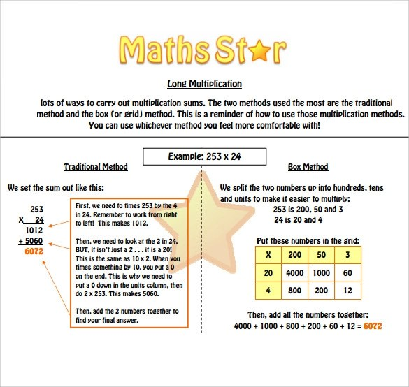 10 Long Multiplication Worksheets to Download for Free Sample