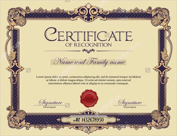 29+ Certificate of Recognition Templates Sample Templates - Examples Of Certificates Of Recognition