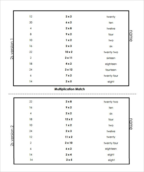 9+ Sample Vertical Multiplication Facts Worksheets Sample Templates - Vertical Multiplication Facts Worksheets