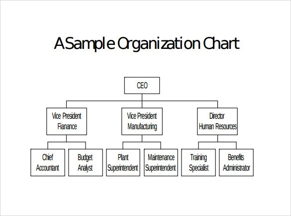 9+ Blank Organizational Charts Sample Templates