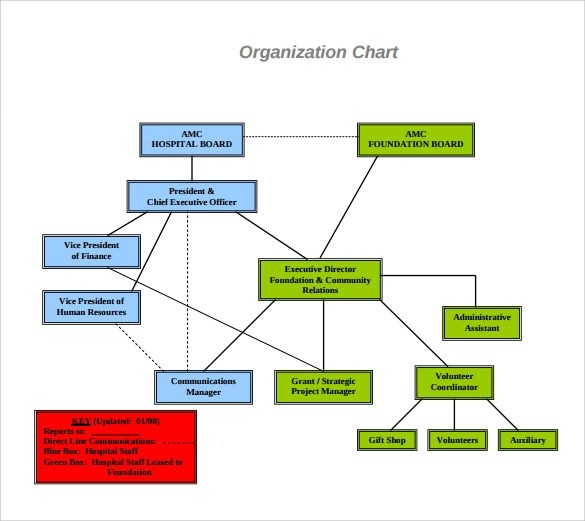 9 Hospital Organizational Chart Templates to Download Sample Templates