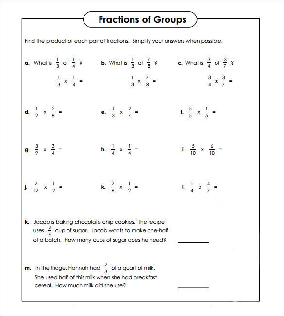 Multiplying Fractions Worksheet - Resume Template Sample - multiplying fractions worksheet