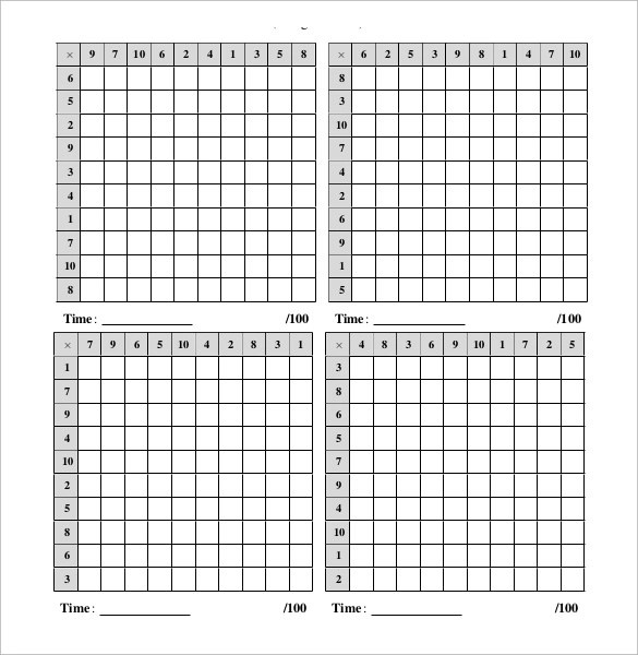 Sample Multiplication Frenzy Worksheet - 9 + Free Documents in PDF - subtraction frenzy worksheets