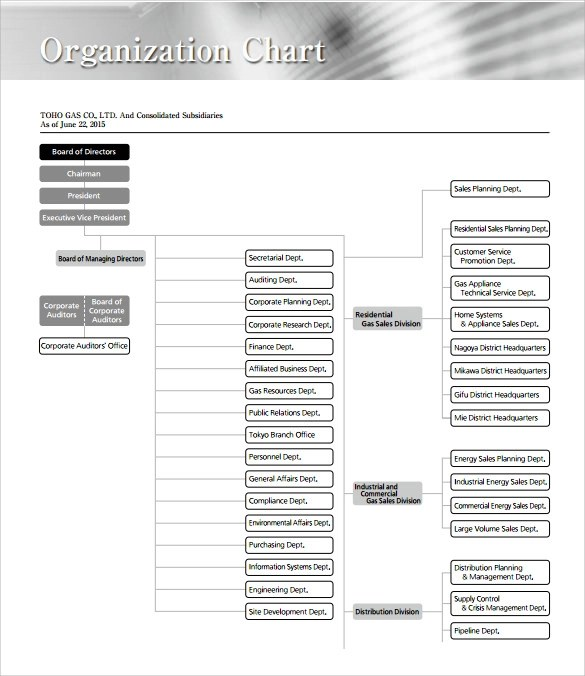 Sample Business Organizational Chart - 10+ Documents in PDF