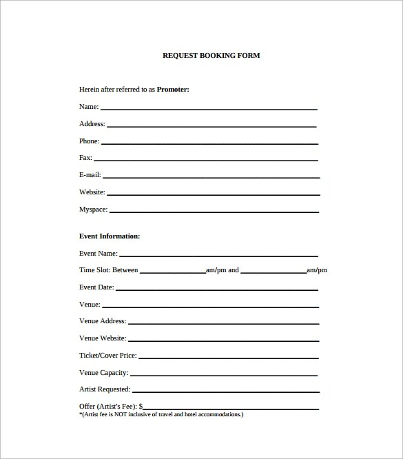 10 Booking Agent Contract Templates to Download Sample Templates