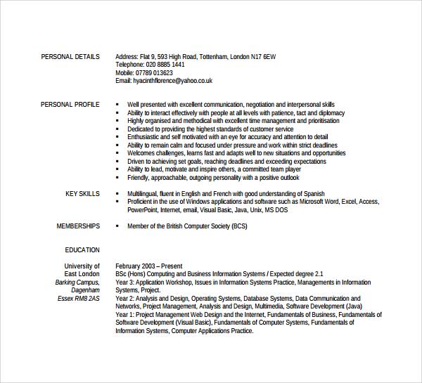 cv moderne pdf