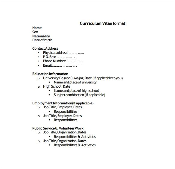 template cv management