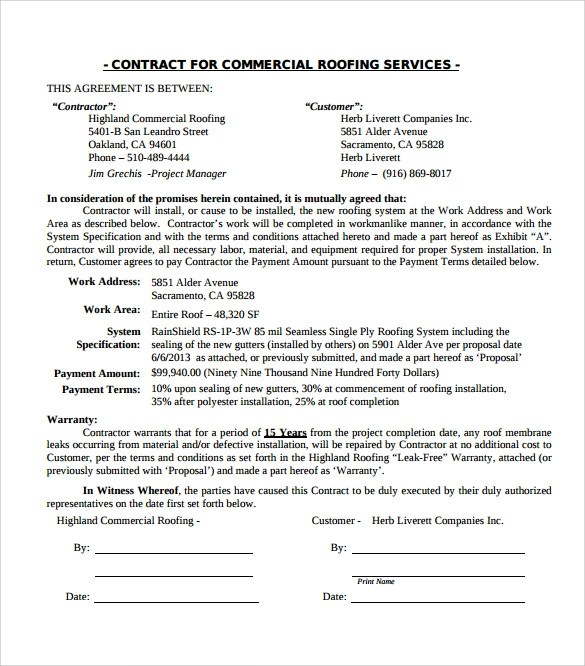 remodeling contract forms free
