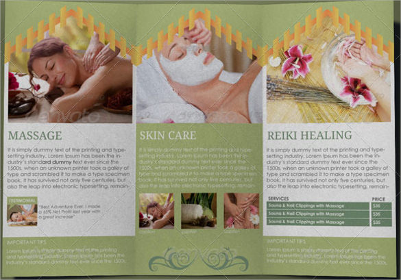 21+ Spa Brochures Sample Templates - spa brochure