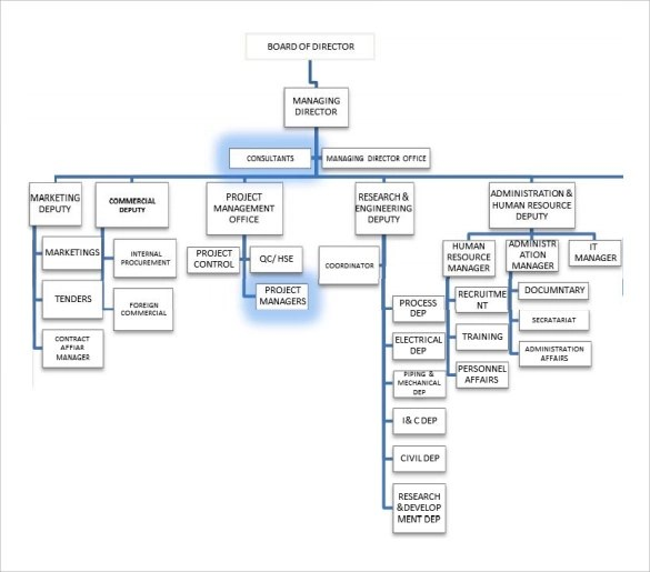 12 Project Organization Chart Templates to Download Sample Templates - project organization chart