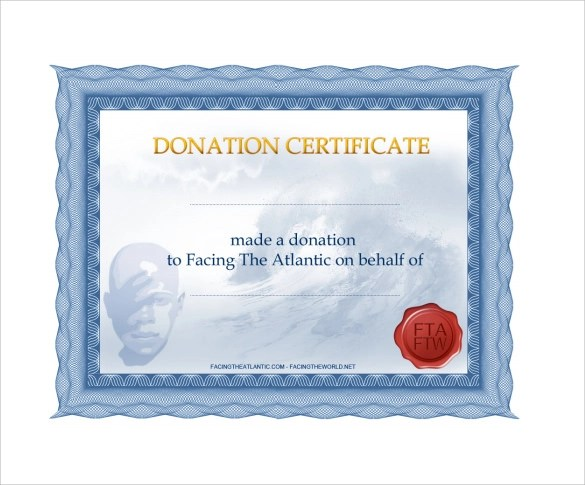 Sample Donation Certificate Template - 7+ Documents in PDF, Word, AI