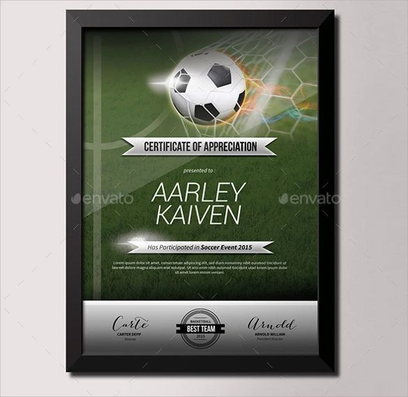 printable soccer certificates
