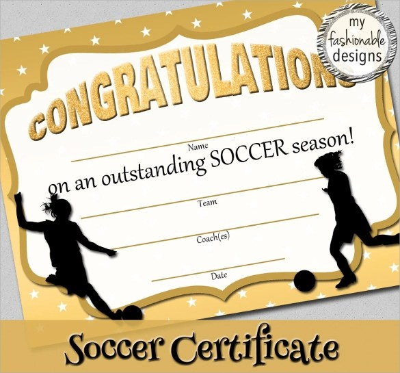 Soccer Certificate Template - 14+ Download free Documents in PSD, PDF - best of printable soccer certificate