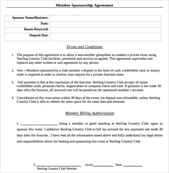 Sponsorship Agreement Pdf | Sample Business Plan For A Clothing