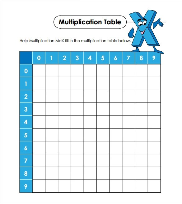 Sample Multiplication Table - 14+ Documents in PDF, Word - subtraction frenzy worksheets