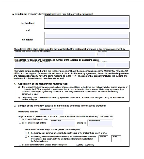 11+ Sample Tenancy Contracts Sample Templates - sample tenancy agreement