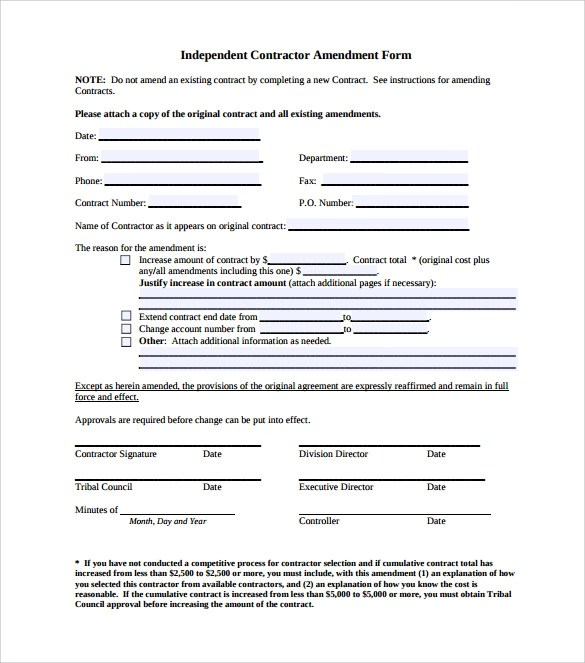 amendment agreement related keywords amp suggestions sample - sample contract amendment template