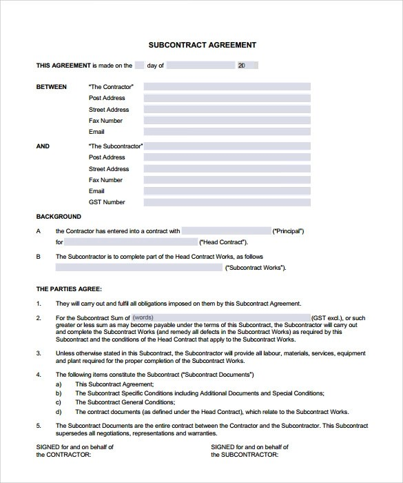 Sample Roofing Contract Template  Spider Diagram Template - 12+ - roofing contract template