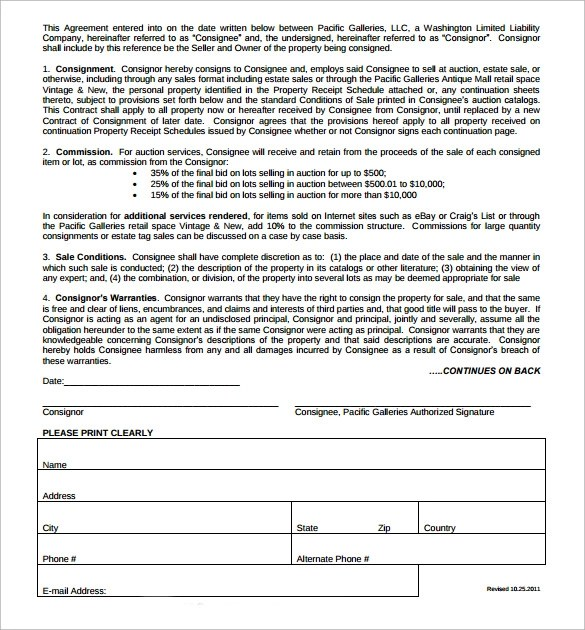 ... Consignment Contract Template  17+ Download Free Documents In PDF   Consignment  Template ...  Free Consignment Contract Template