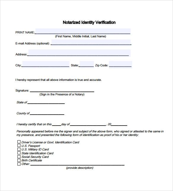 notary signature example